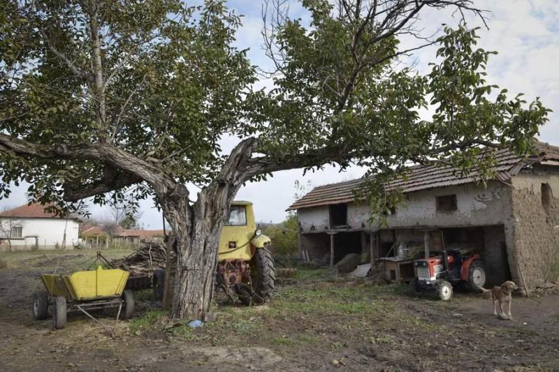 Малкото стопанство в Якимово разполага само с един трактор в движение.