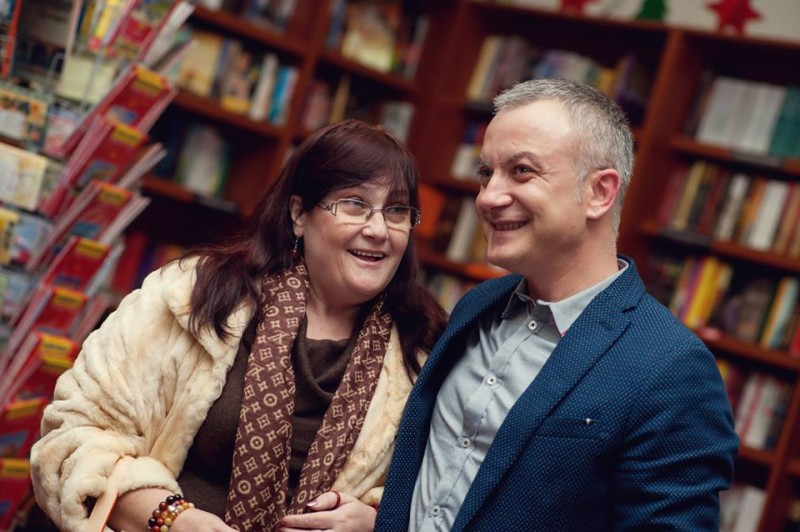 """С Маргарита Петкова на премиерата на """"В понеделник ще е късно"""". © Ивелина Чолакова."""