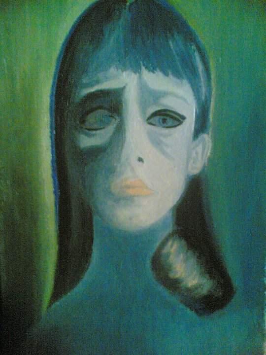 Мила Искренова, Портрет в синьо-зелено.