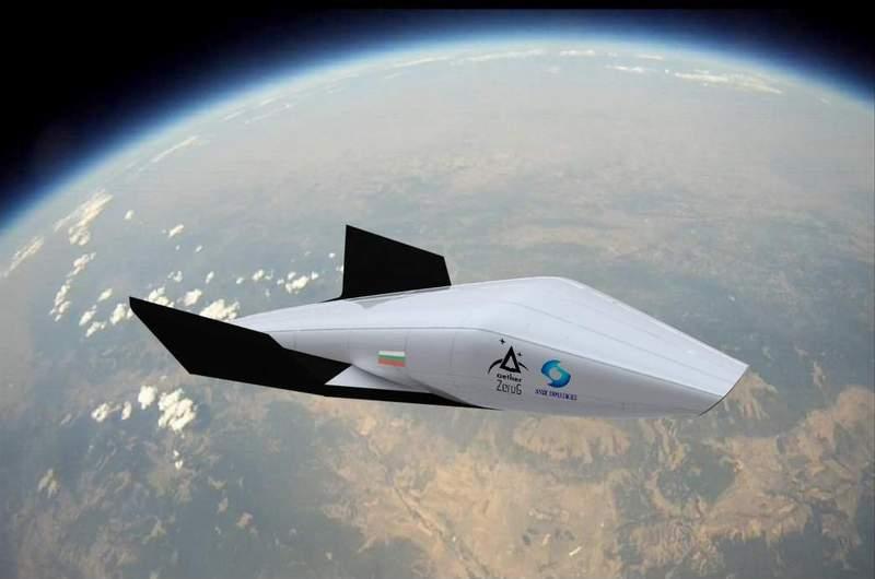 Концептуална визия на совалка, както си я представят младите бъдещи учени от Space Challenges.