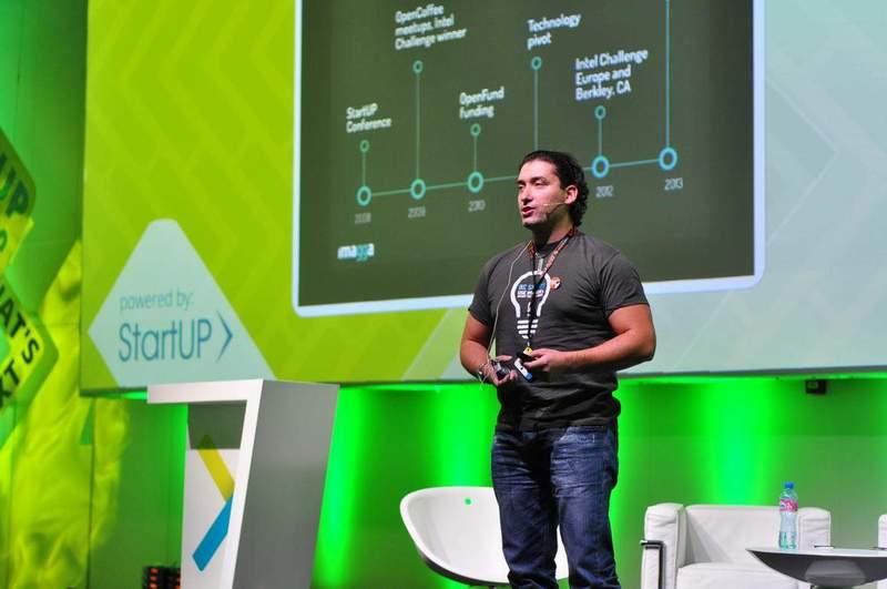 Георги Къдрев обяснява на StartUP Conference NEXT как работи технологията Imagga.