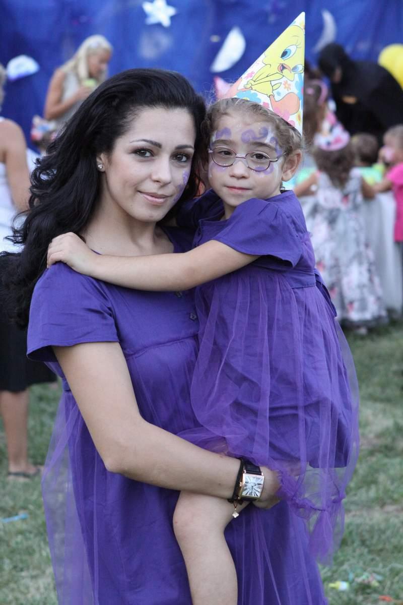 С дъщеря си Изабела.