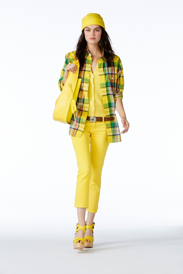 Лимонено жълто е топ предложението на Ралф Лорън за топлите месеци.© Ralph Lauren.