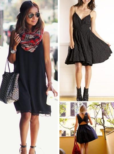 Три визии в абсолютно различен стил на базата на черната рокля.