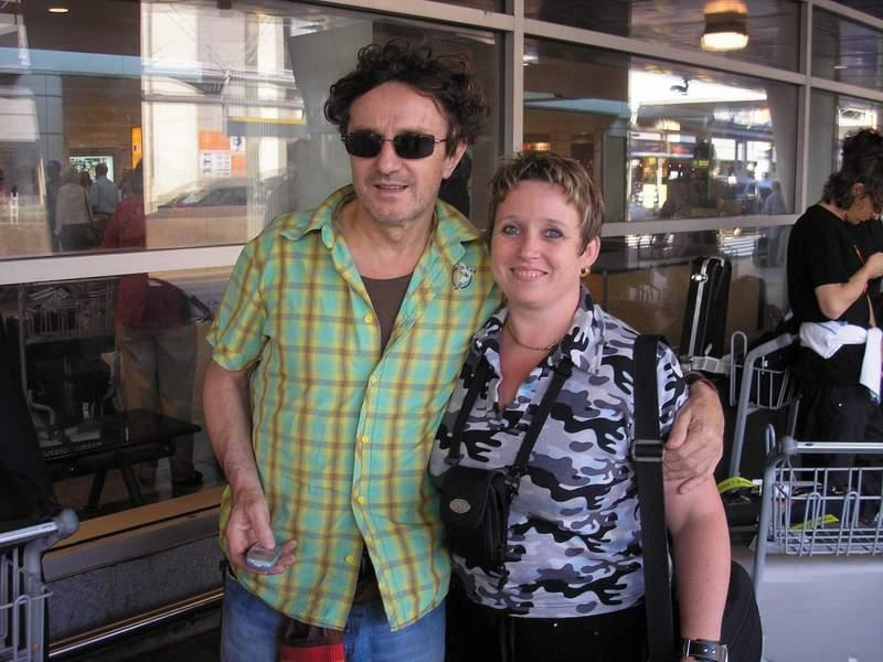 С Горан Брегович по време на турне.