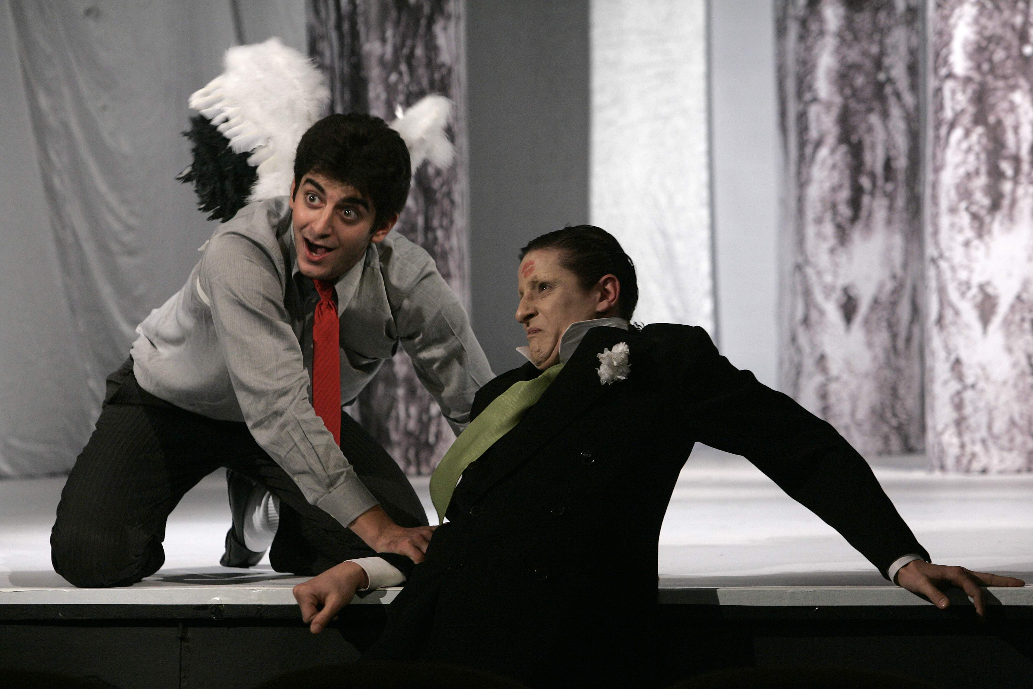 "Като директора в ""Балкански синдром"", постановка на Мариус Куркински в МГТ ""Зад канала""."