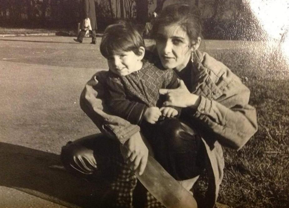 """С майка си на разходка в градинката """"Заимов""""."""