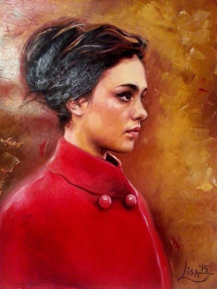 Приятелка на Бранимира от фейсбук, подисваща се като Елизабет Лиза, е прерисувала този портрет от култовата снимка, публикувана в 9GAG.