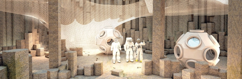 Един от проектите за бъдеща къща на Марс.