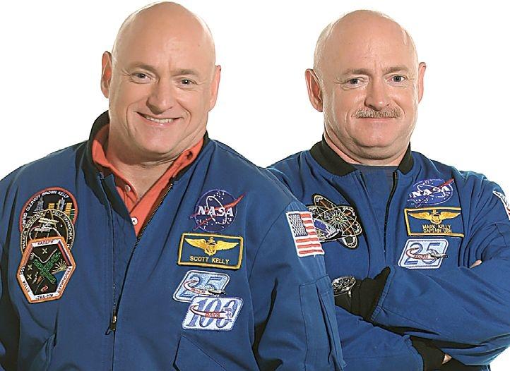 Двама близнаци и астронавти от НАСА - Марк и Скот Кели.