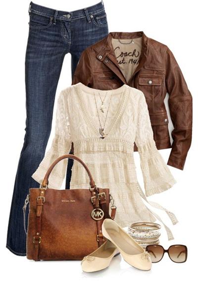 Перфектната комбинация в стил бохо. Етно блузата може да се замени с дантелена.
