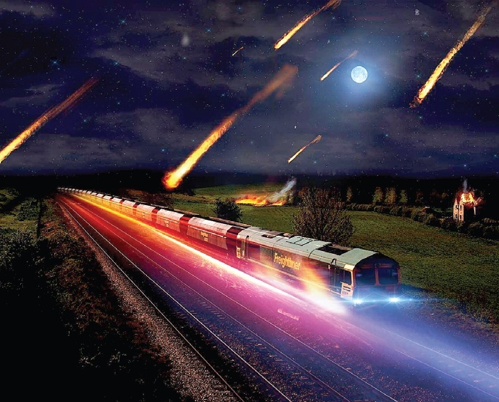 Метеоритният дъжд е сравнително рядко явление.