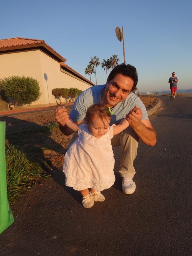 С дъщеричката Ирина.