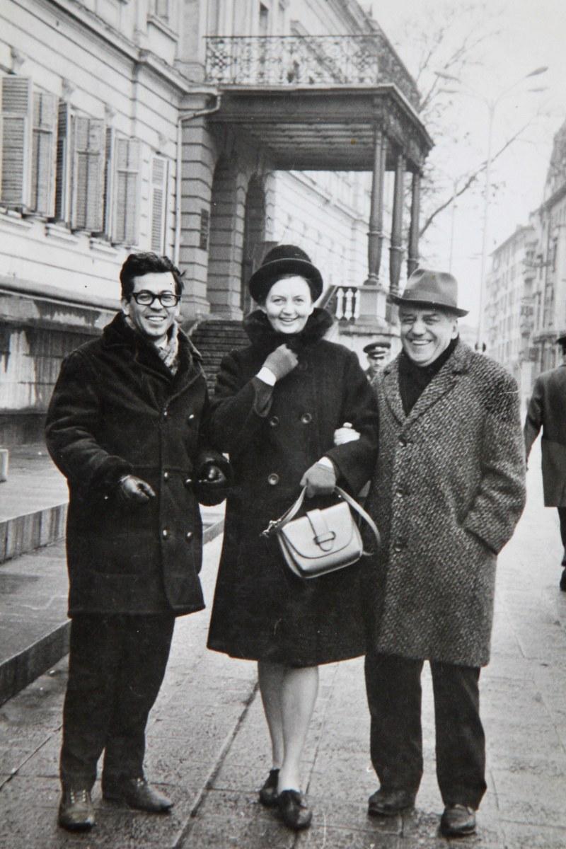 С Татяна Лолова и Лео Комфорти, 1966 г.