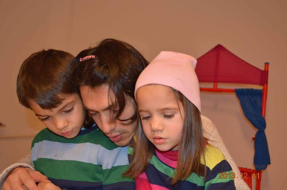 С децата си Кубрат и Рада.