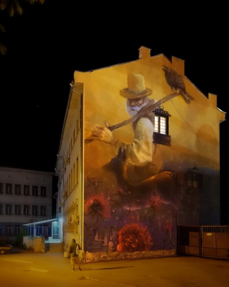 """Night keeper (""""Нощен пазач"""") - проект върху общинска сграда в Горна Оряховица."""