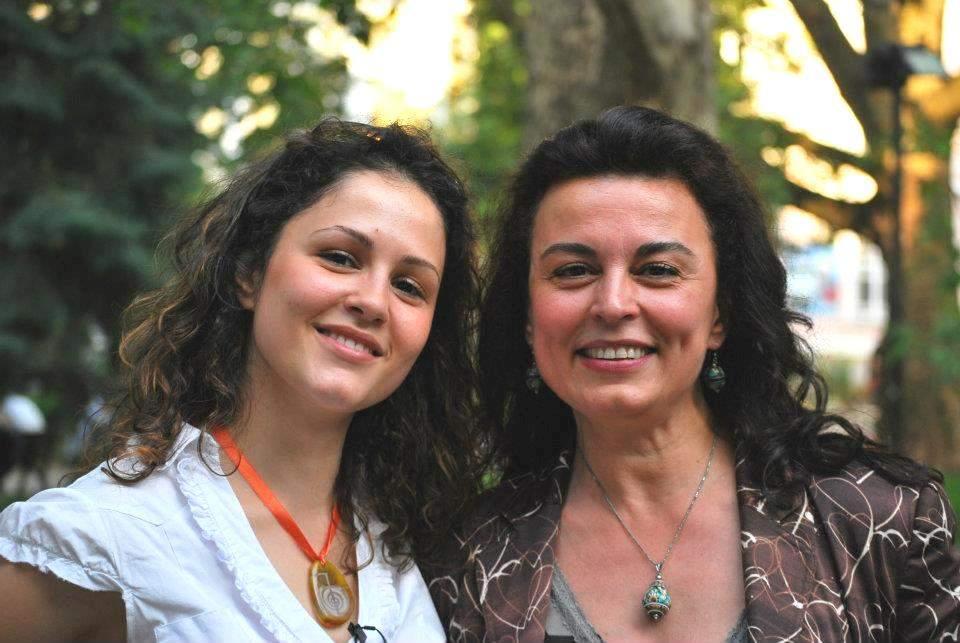 С дъщеря си Адриана.