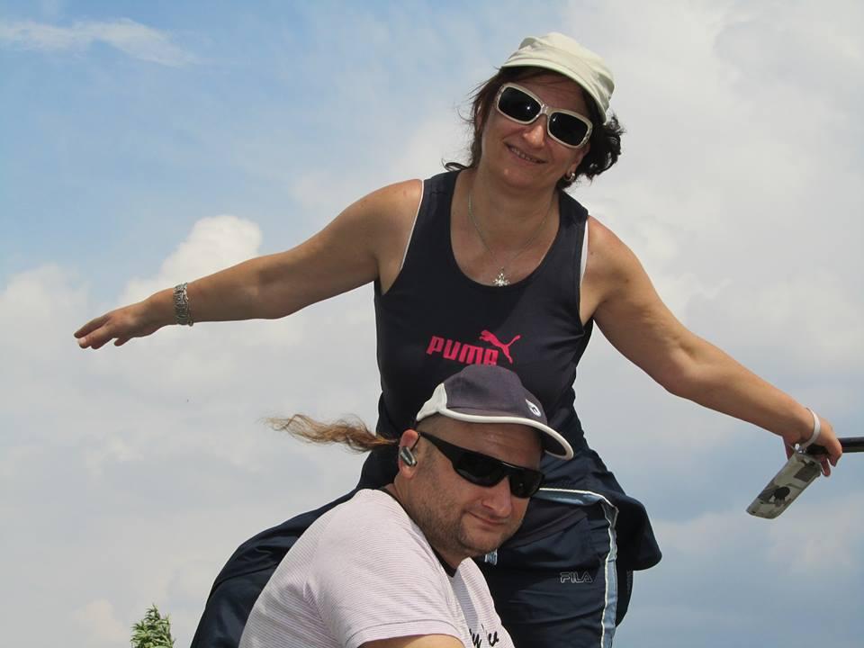 С приятелката си Галя на излет в планината.