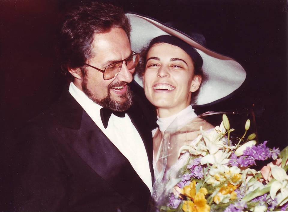 Никола и Анна Мария Гюзелеви на тяхната сватба, 1984 г.