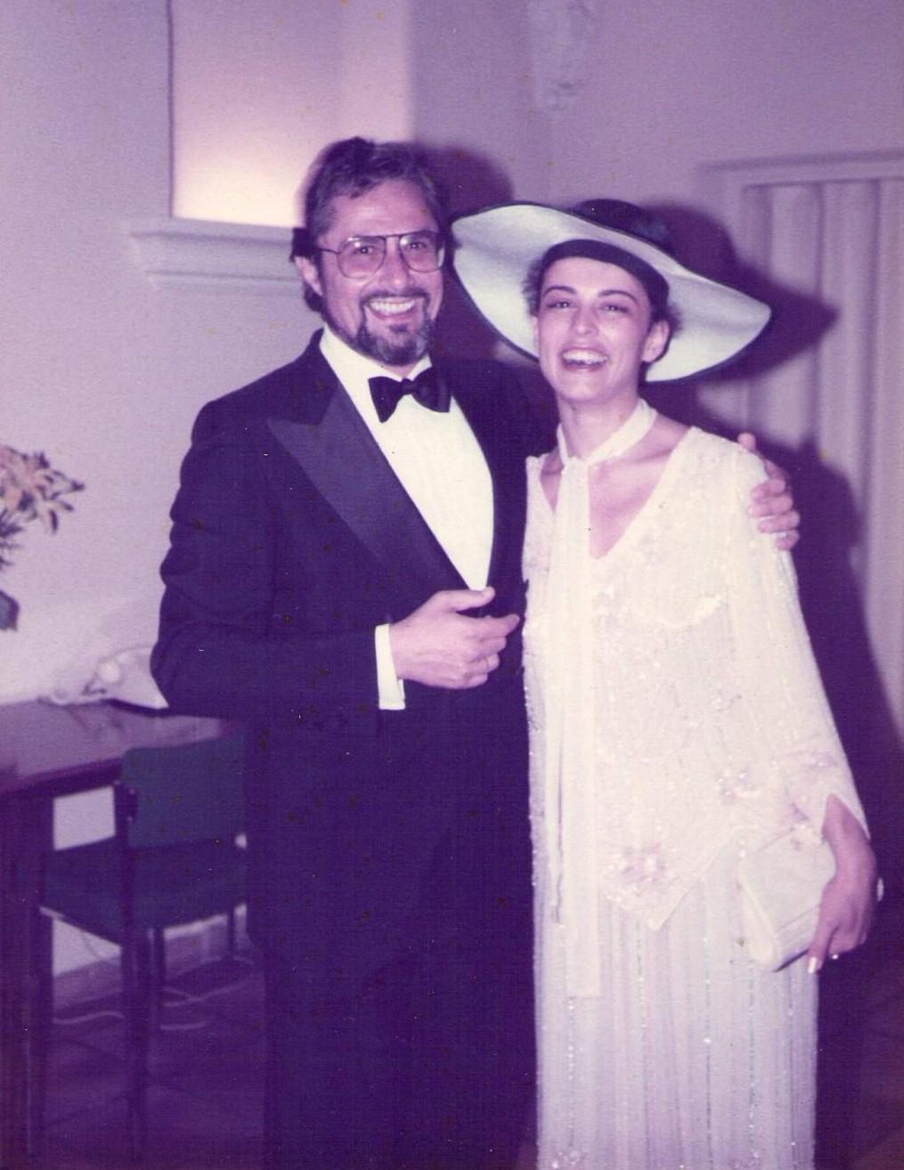 Уникална снимка: Никола и Анна Мария Гюзелеви на тяхната сватба през 1984 г.
