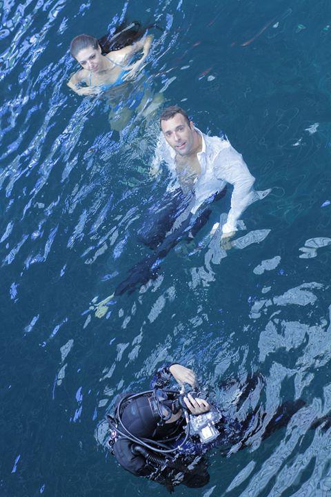 Gantcho на подводни снимки във Варненския делфинариум за клипа към парчето My Universal Love, заедно със своя приятелка Мария Радославова, също гмуркачка.