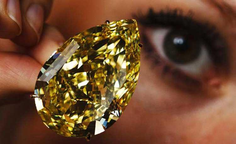 Жълтите диаманти са изключителна рядкост.