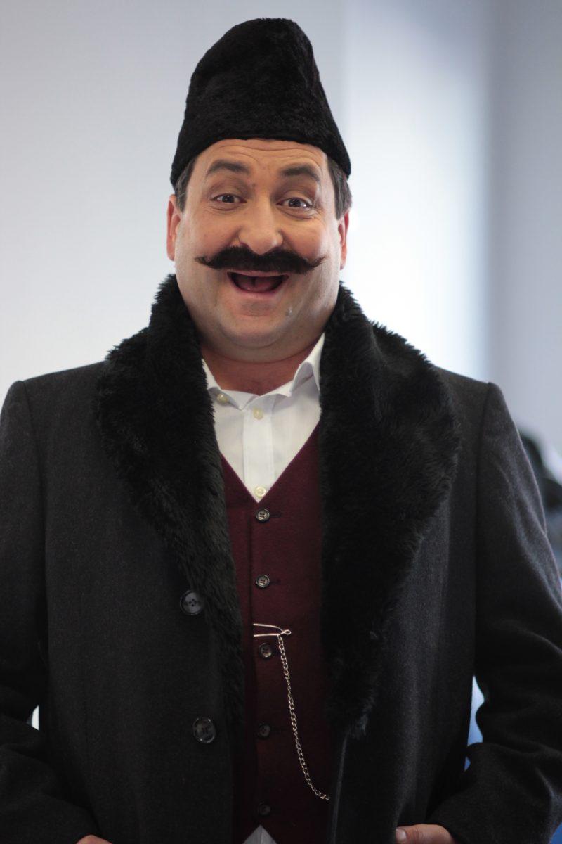 """Като бай Ганьо в спектакъла """"Бай Ганьо в театъра"""", Бургаски театър."""