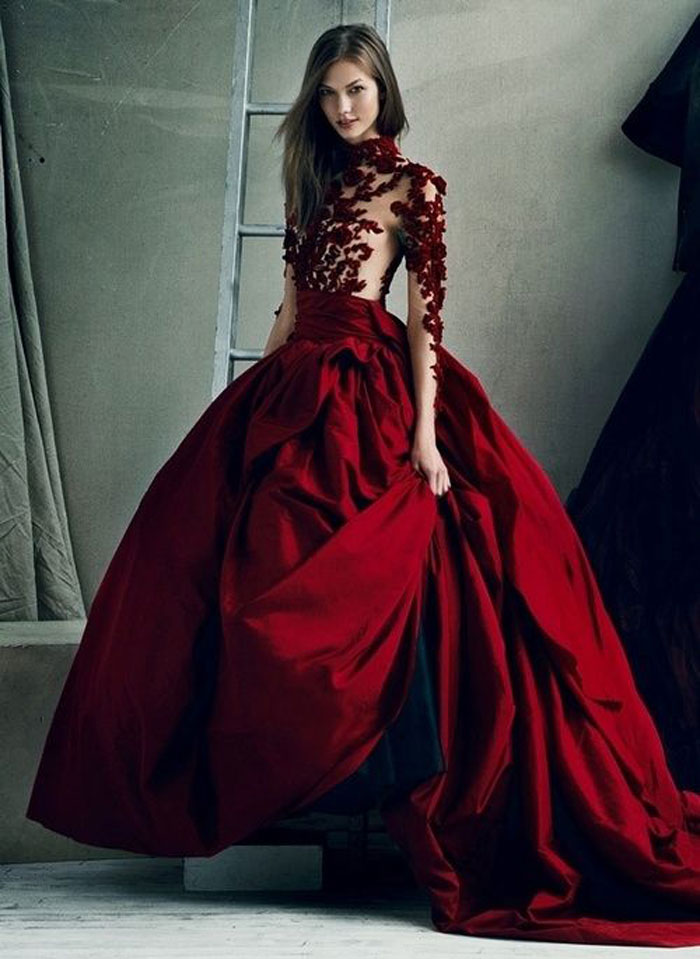 lace-top-red-wedding-dresses