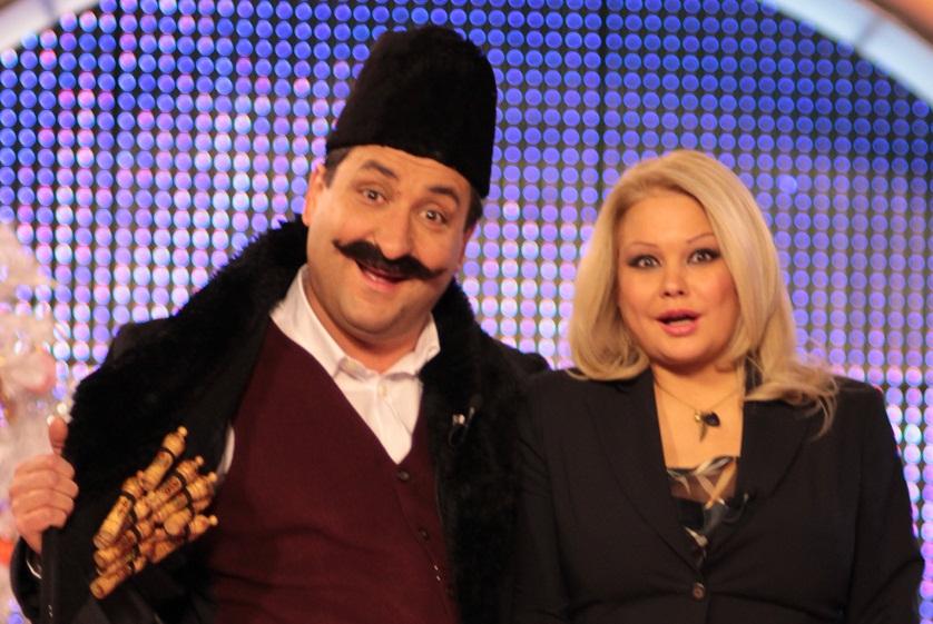 """С Ани Михайлова като водещи на """"Шоуто на Канала""""."""