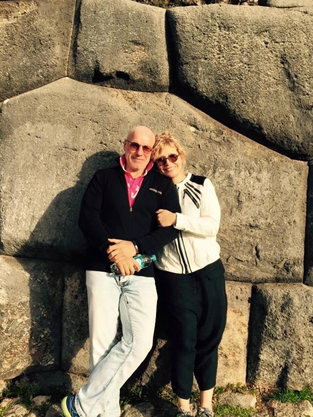 Радина и Симеон Денкови на Великденските острови.