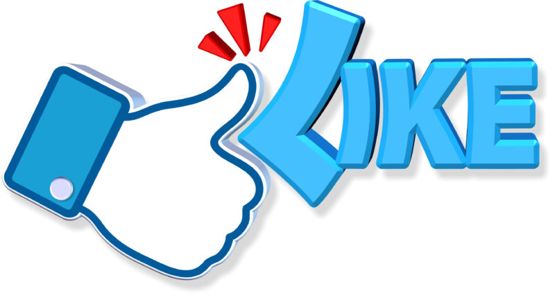 Facebook Like Design Three dimension style and high quality image