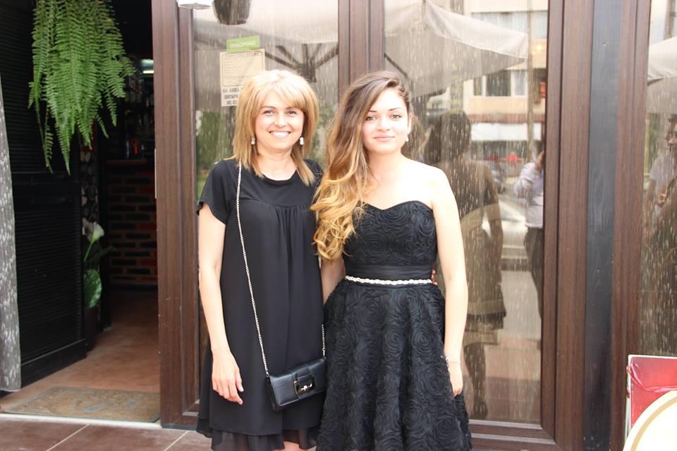 С дъщеря си Александра.