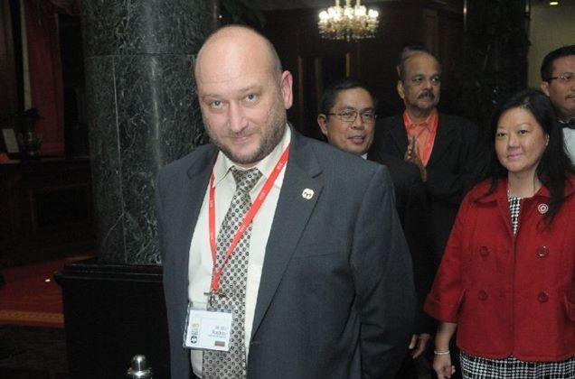 Христо Радков на гала вечерята на IMD Mensa. Сн. Ervin Salgo.