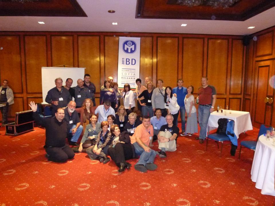 """На традиционните годишни срещи на IBD - Международния борд на директорите на """"Менса"""", винаги е весело, като между приятели. София, 2011 г."""
