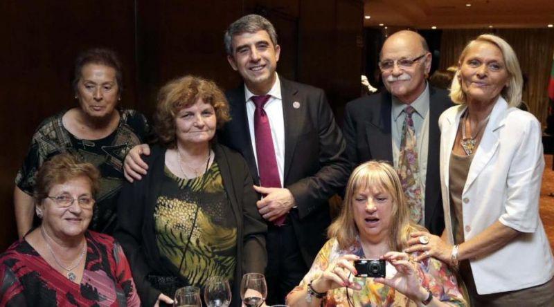 Ружка Николова на среща на българите в Буенос Айрес с президента Росен Плевнелиев.