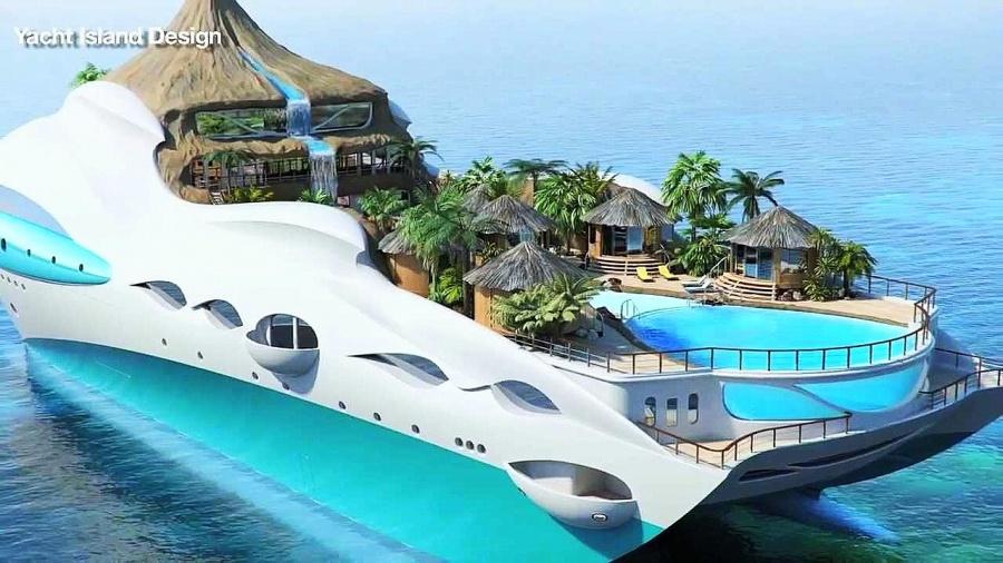 Yacht island design.