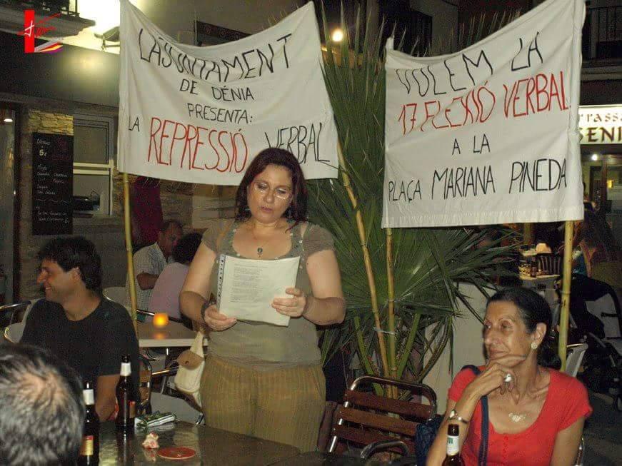 Магдалена Бояджиева на литературно четене в памет на поетесата Мариана Пинеда в град Аликанте, Испания заедно с колеги поети и художници от Асоциацията на творците от област Марина Алта.