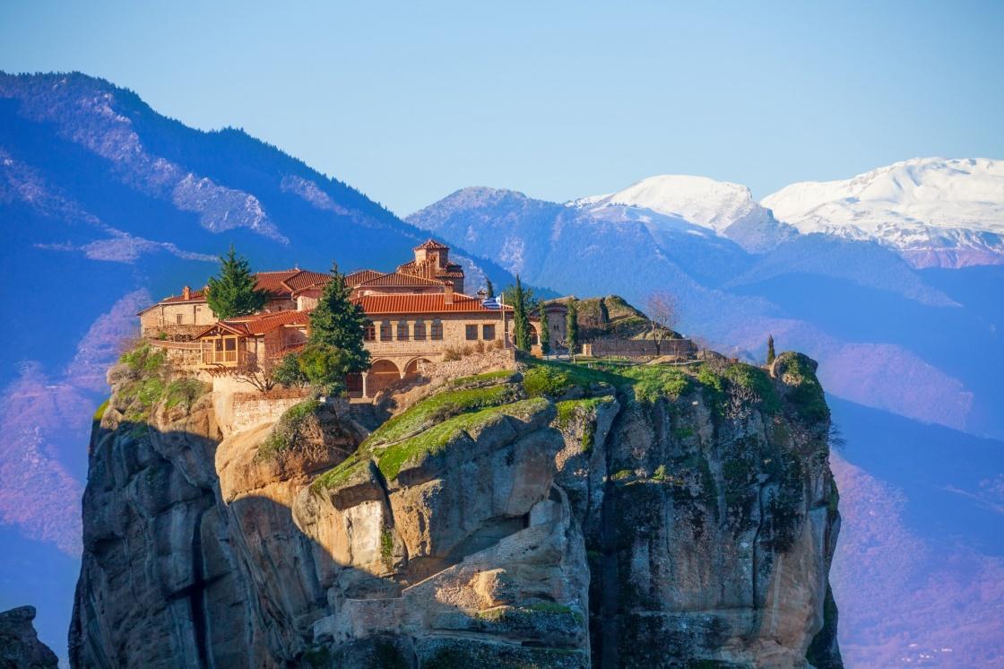 Манастирският комплекс Метеора в Гърция.