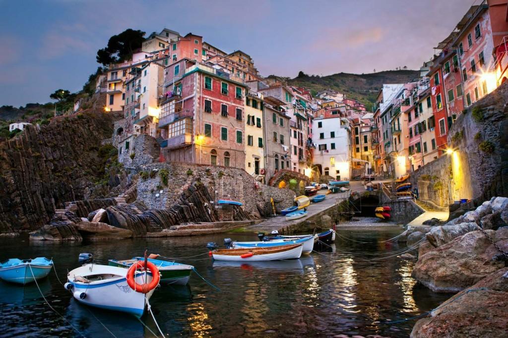Италианското градче Риомаджоре.