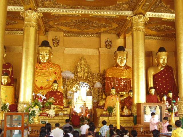 Бирма. Шведагон пагода в Янгон